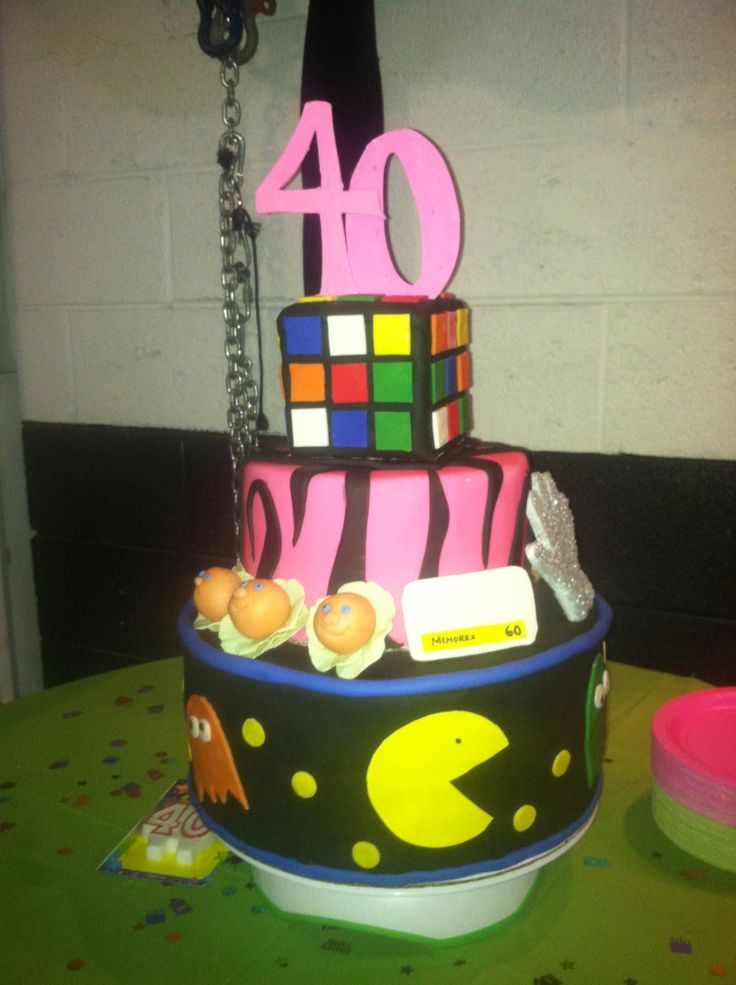 80 s themed 40th birthday cake Party Ideas Pinterest