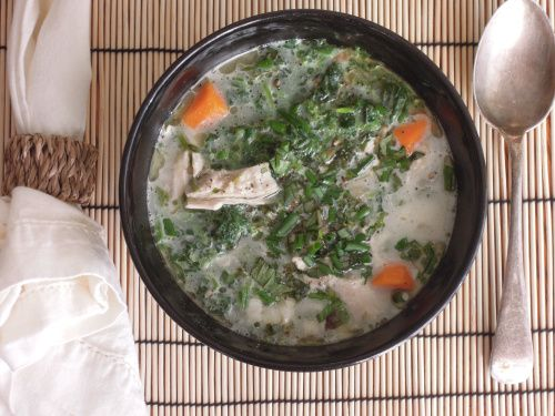 Creamy Nettle & Chicken Soup | New noms to try | Pinterest
