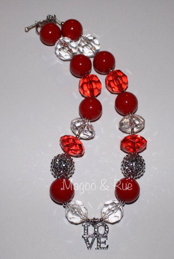 valentine bead necklaces