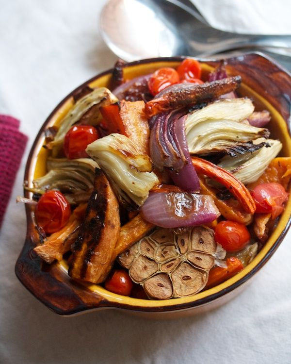 Roasted Vegetables with Pomegranate Vinaigrette from Big Girls Small ...