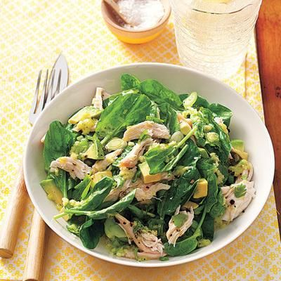 Healthy recipes: Chicken and Avocado Salad with Wasabi-Lime Dressing