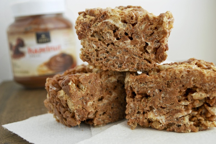 Nutella Rice Krispie Treats | Rice Krispie Treats | Pinterest