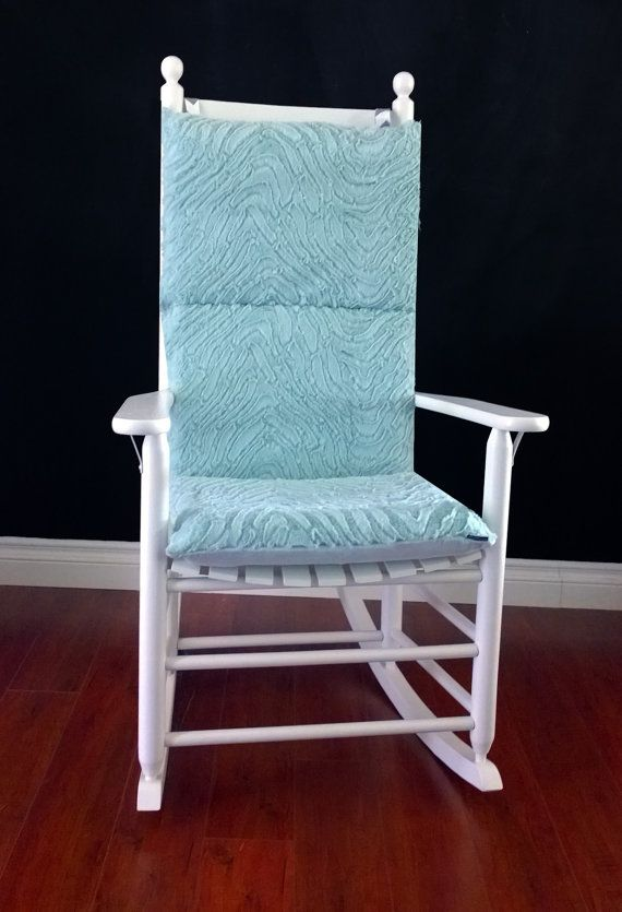 Rocking Chair Cushion Cover Mint Green Microplush