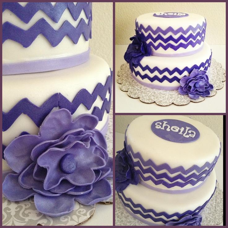 Chevron design cake sofia the first pinterest
