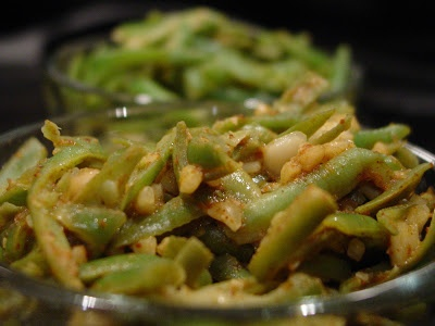 Nutty Green Beans (Indian spiced - with 'Kanda Lassun' Masala and ...