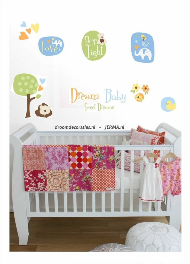 ... -, decoratiestickers. Sweet dream babykamer dieren decoratie stikkers