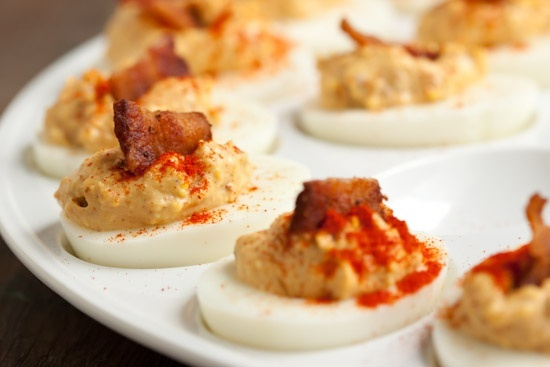 Chipotle Bacon Deviled Eggs | lets try this | Pinterest