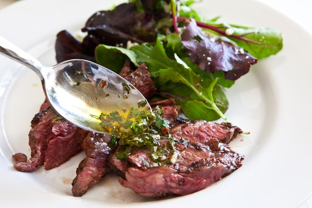 Grilled skirt steak with chimichurri sauce - Chimichurri = my new ...