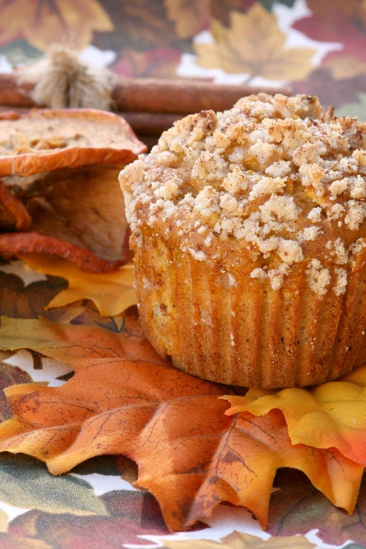 Pumpkin Apple Streusel Muffins Recipe | Fall Recipes and Decor | Pint ...