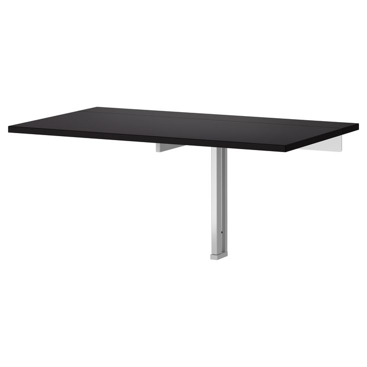 Bjursta wall mounted drop leaf table brown black - Wall mounted table kitchen ...
