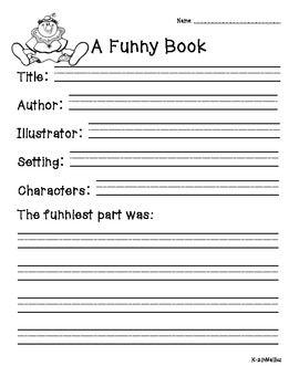 Book report for primary grades