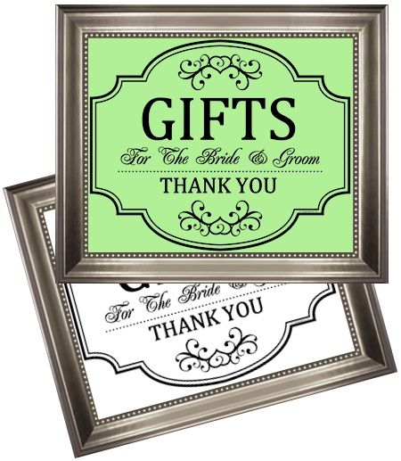 Wedding Gift Table Sayings : ... All different sayings for your wedding, birthday or event. Gift Table