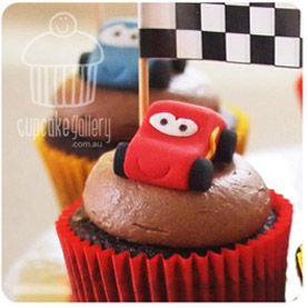 Cars cupcake topper tutorial from my website - The Cupcake Gallery