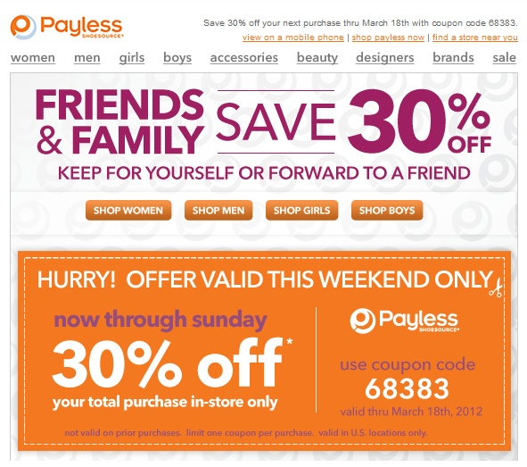 Payless coupons canada 2018