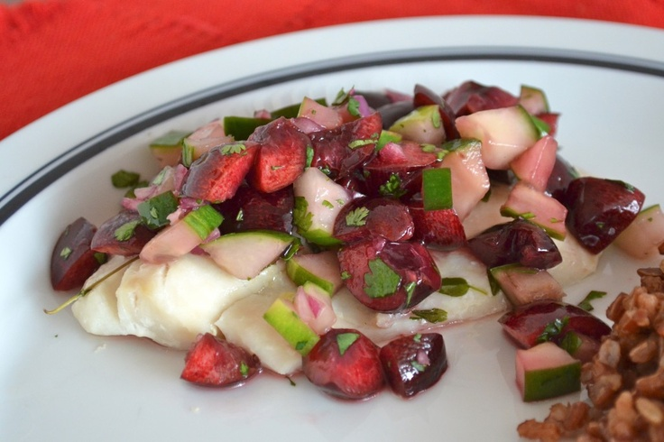 Baked Tilapia with Sweet Cherry Salsa | Fish & Sea Creatures | Pinter ...