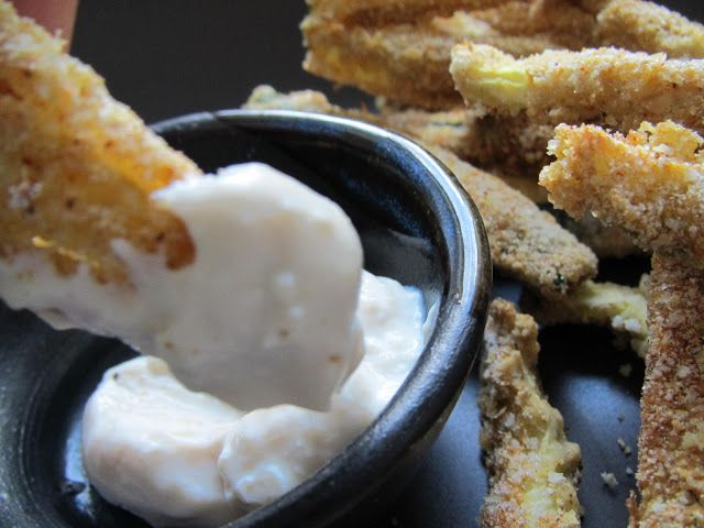 Gluten-Free Fried Zucchini Chips Recipe With Lime-Mint ...