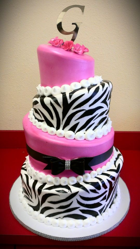 Cake With Zebra Design : Pin by Mary s Cake Shop on Cakes for Special Occasions ...