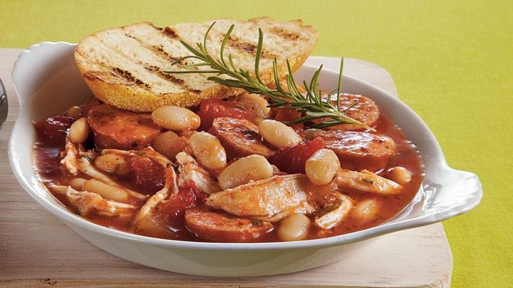 ... stew features with Progresso® cannellini beans, Muir Glen® organic