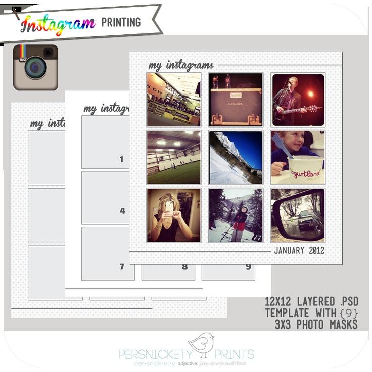 Photoshop instagram template photoshop stuff pinterest for Instagram template photoshop