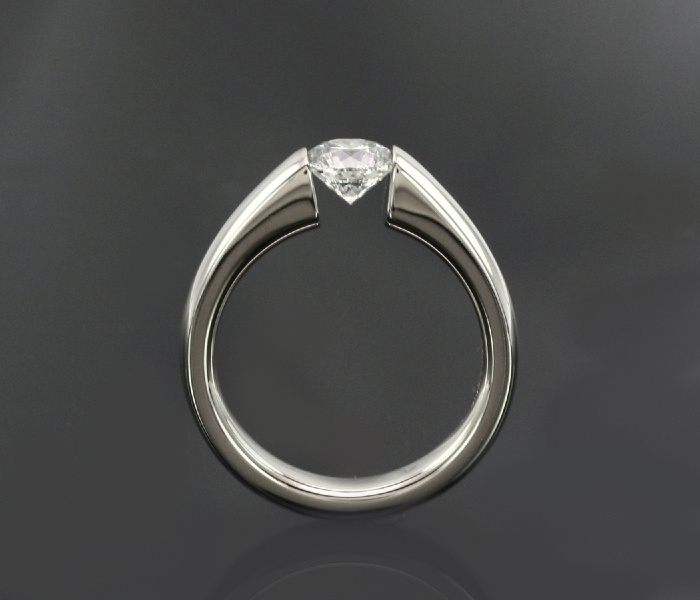 inset diamond engagement ring custom diamond rings With inset wedding rings
