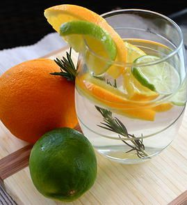 Citrus Cooler- Ingredients: 2 quarts spring water - 2 limes, cut into ...