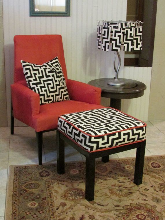Salmon colored upholstered arm chair with fun matching for Matching arm chairs