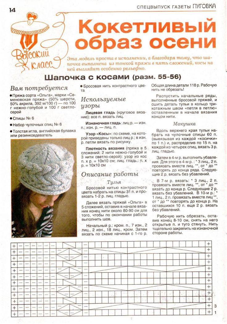 Вязание шапку спицами для женщины новые модели 510