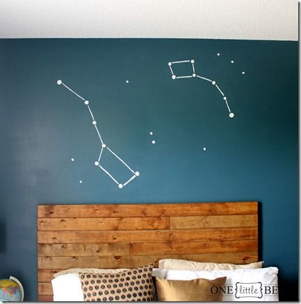 Constellation Wall Art- DIY Big Dipper and Little Dipper