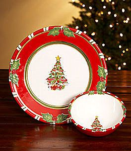 Pin by erica castillo on holiday dinnerware plates for Christopher radko letters to santa dishes