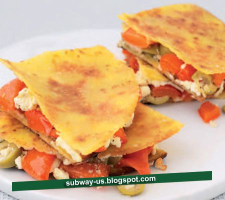 quesadilla with feta cheese, green olives, and peppers recipe
