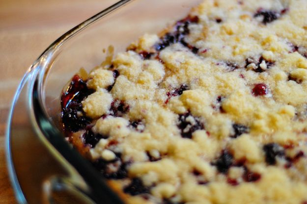 Blackberry Pie Bars from Buns In My Oven