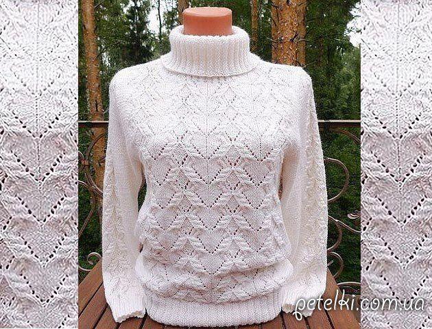 Узоры вязания свитера женского 478