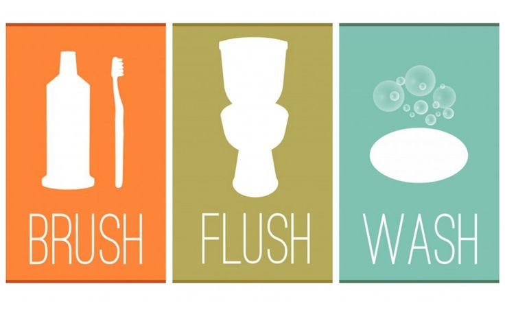Free bathroom printable and chore chart