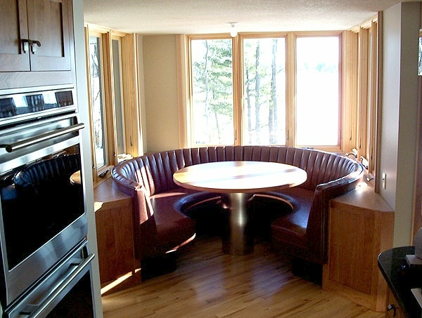 Circular Kitchen Booth For The Home Pinterest