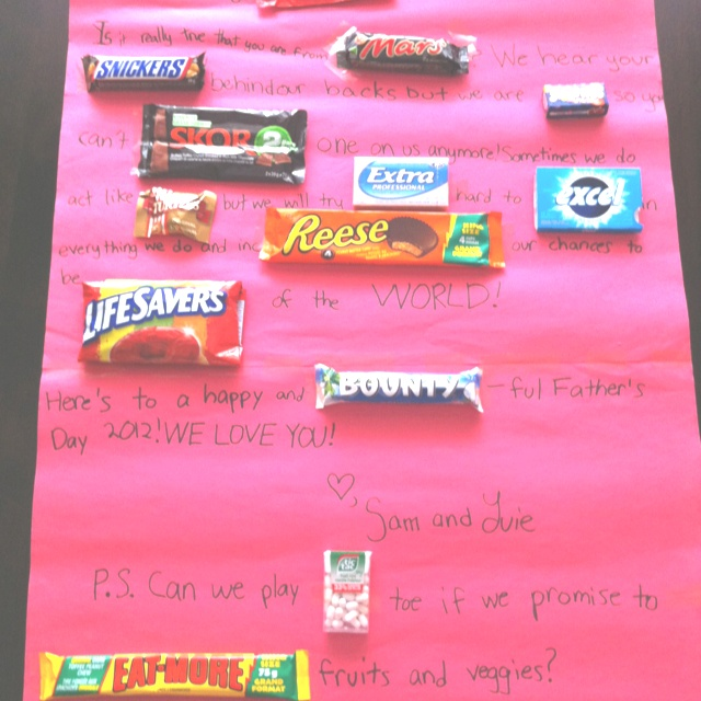 1000+ images about Cards made with candy bars and poster ...