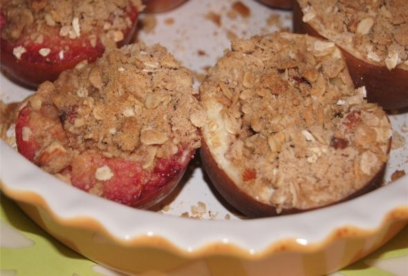 Stone Fruit Crisp for One, 3 weight watchers pointsplus, 133 calories