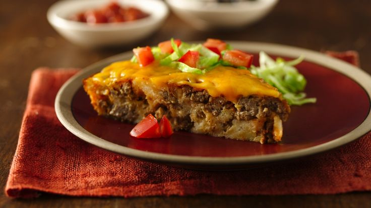 Impossibly Easy Taco Pie (Gluten Free) #LMDConnector
