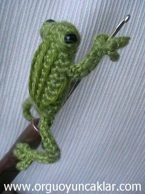 Amigurumi Crochet Frog : Amigurumi 0.8 inc Miniature