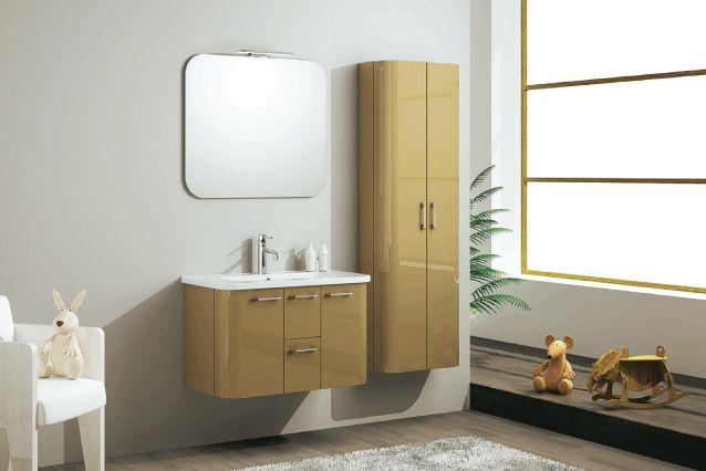 Mobile class visone laccato composto da base portalavabo for Illuminazione specchio bagno leroy merlin