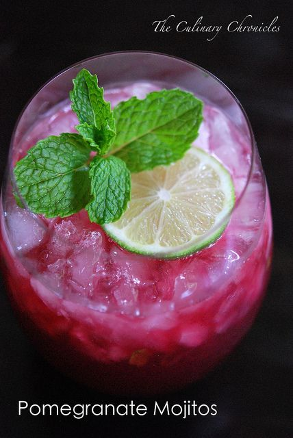 Pomegranate Mojitos | d r i n k . u p ! | Pinterest