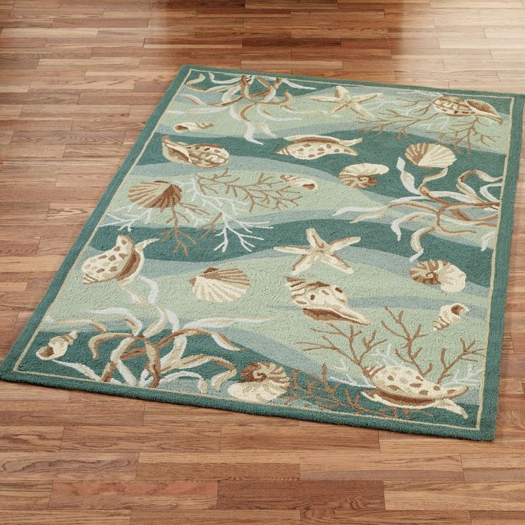 Seashell bathroom rugs