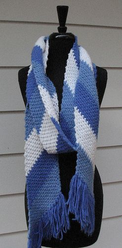 Free Crochet Pattern Striped Scarf : diagonal crochet scarf - FREE pattern! Crochet - Ladies ...
