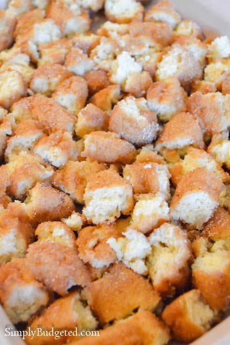 Apple Donut Bread Pudding-11 | Pastries, cakes and cookies | Pinterest