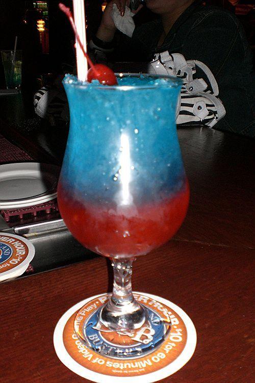 Sno Cone DeKuyper Watermelon Pucker, Malibu rum, Three Olives Cherry ...
