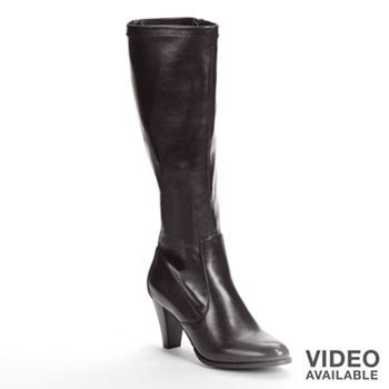 BLACK boots - size 10 - low heel - Croft and Barrow Tall Boots - Women