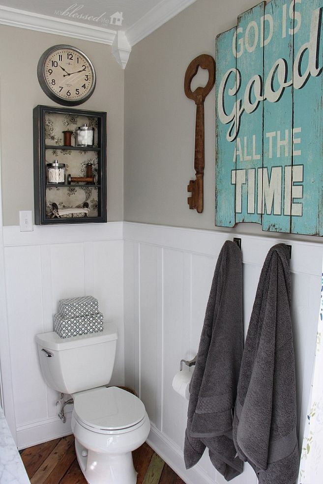 Cottage Bathroom Wall Decor : Cottage style bathroom makeover