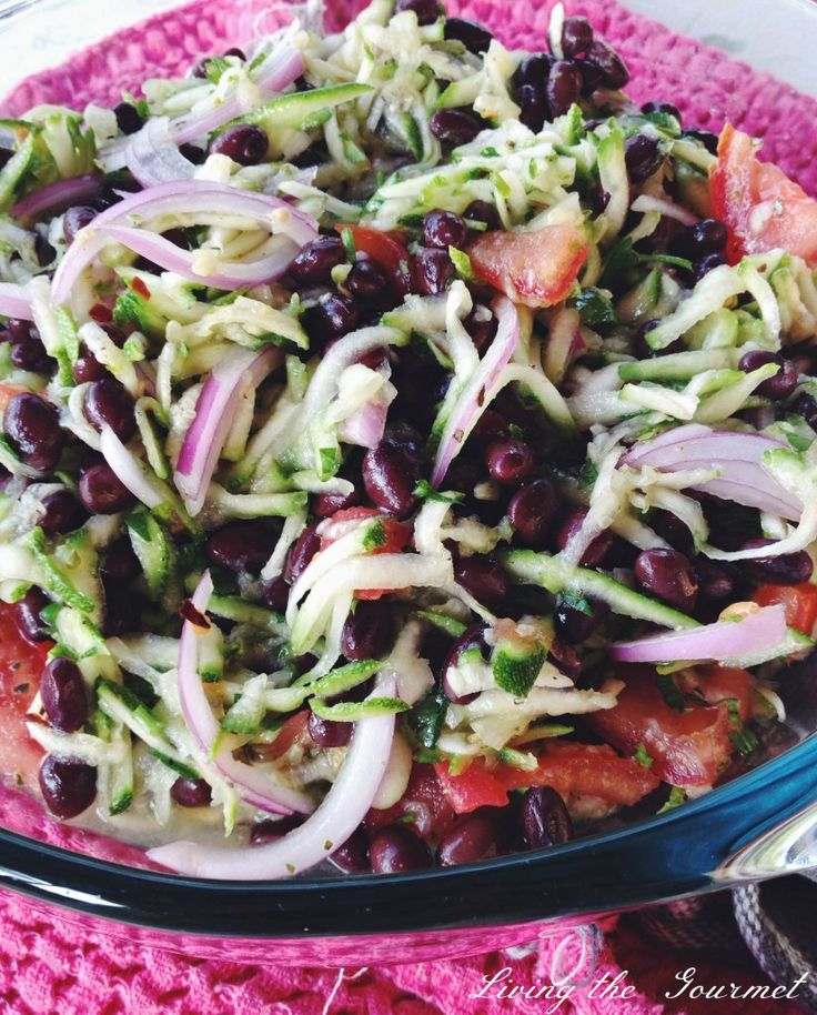 Shredded Zucchini and Black Bean Salad