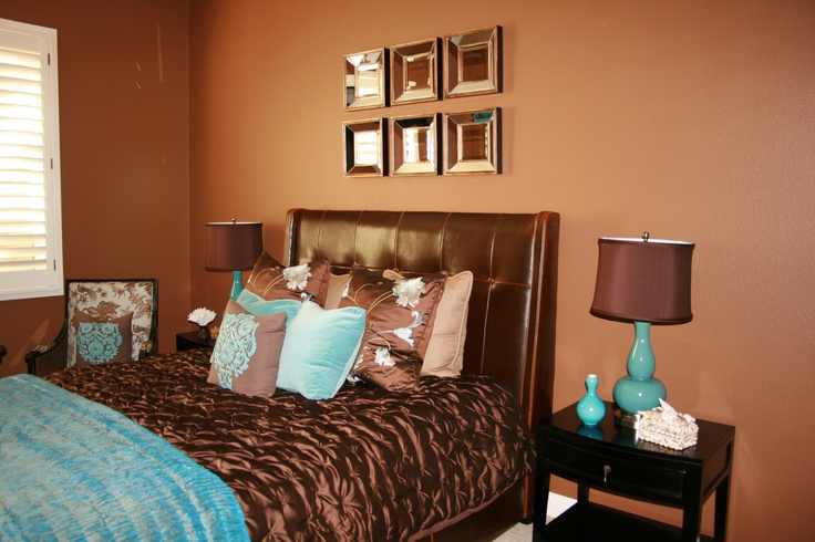 Turquoise and brown guest room guest room pinterest