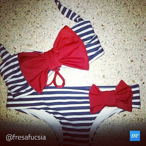 Baño Estilo Marinero:Bello este traje de baño estilo marinero