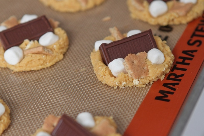 Peanut Butter S'mores Cake Cookies | Just Desserts | Pinterest